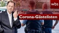 Polizei greift auf Corona-Gästelisten zu – Ist das legal? | Rechtsanwalt Christian Solmecke