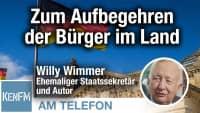 Am Telefon zum Aufbegehren der Bürger im Land: Willy Wimmer