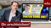 Doktortitel erschlichen: RA Solmecke REAGIERT auf Marvin | Rechtsanwalt Christian Solmecke