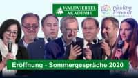 Eröffnung der 36. Internationalen Sommergespräche (Wavak)