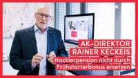 AK-Direktor Keckeis: Statt Hacklerpension teure Gießkanne