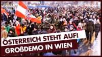 Mega-Demo in Wien! Polizeieinsatz gegen Antifa.
