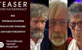 TEASER / KURZ NACHGEFRAGT BEI THOMAS STAPPER, WOLFGANG WODARG U. ANN KRUTTSCHNITT #dieKontrollgruppe